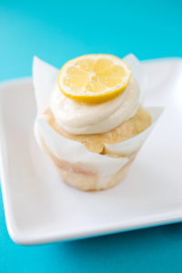 Sticky Lemon $3.00 – A lemon cupcake with fresh lemon zest topped with a fresh lemon juice glaze, & topped with cream cheese frosting and more lemon glaze.