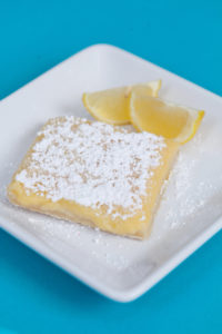 Lemon Bars $2.50: Made from fresh lemon juice and zest. On top of a made from scratch short bread crust.