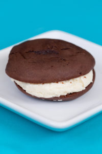Jumbo Oreo Cookies$3: These are super soft chocolate cake cookies with our cream cheese frosting in the middle.