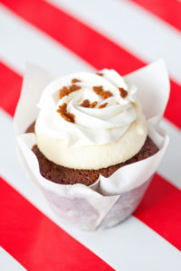 *Gingerbread Cheesecake $3.00 -A Gingerbread cupcake filled and topped with cheesecake and topped with a whipped cream frosting.