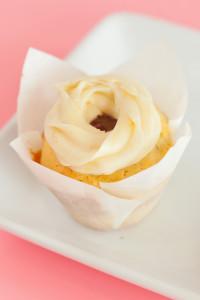 Lemon Raspberry $3– Lemon cupcake filled with a raspberry filling topped with a lemon cream cheese frosting.