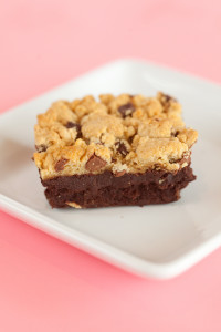 Brownie Cookie Bars $3: Made from scratch fudgy brownies with our made from scratch chocolate chip cookies on top