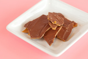 Handmade Toffee $3: is handmade covered in Milk Chocolate.