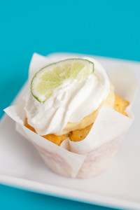 *Key Lime $3 - Our vanilla cupcake baked in a home made graham cracker crust, filled with a made from scratch key lime curd, topped with whipped cream and a lime slice on top.