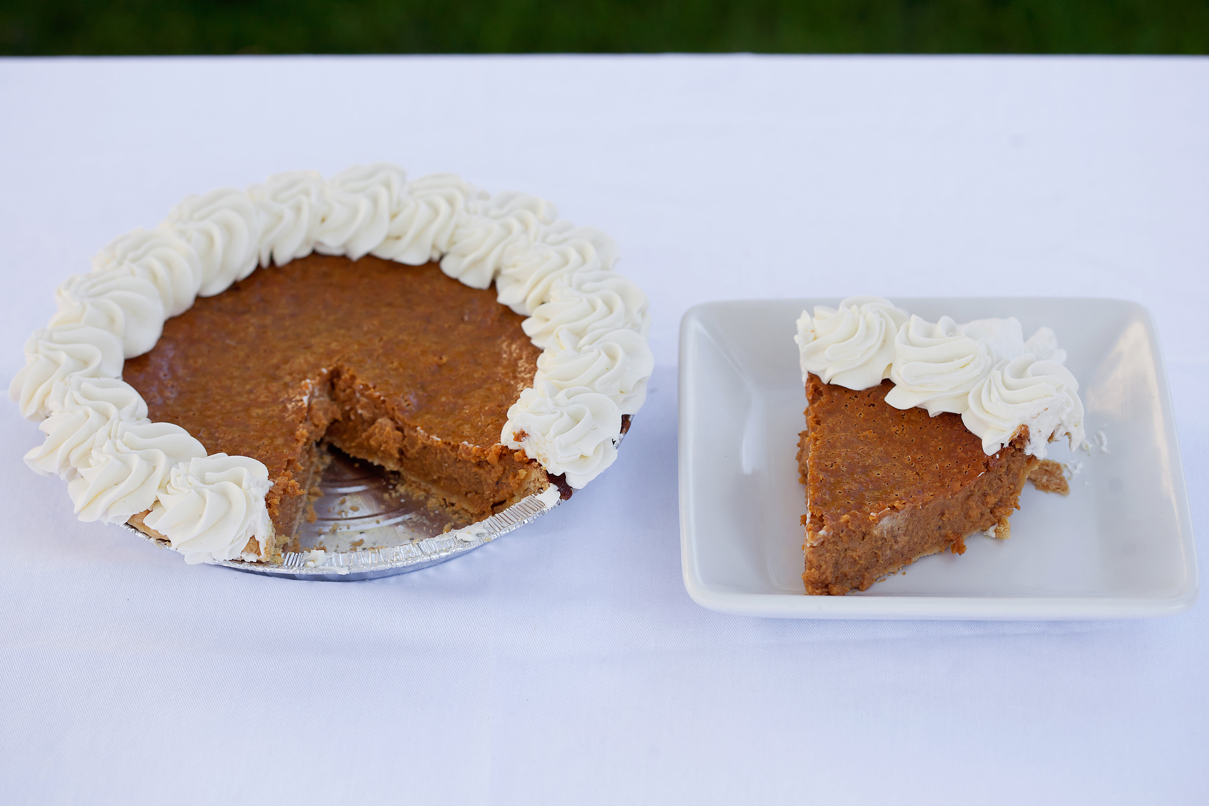 Pumpkin Pie - $12.99 It's rich, smooth, thick, and tastes incredible on our flakey crust.