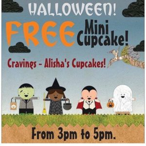 "Mark your calendar! FREE mini cupcake on Halloween day Monday October 31st from 3pm to 5pm to anyone in costume! All you have to do is come by and say the 3 magic words ""trick or treat"" We will have them until we run out! And YES we will have some gluten free ones too!!!!!! #trickortreat #happyhalloween #thisishalloween #pleasantgroveutah #8018992185"