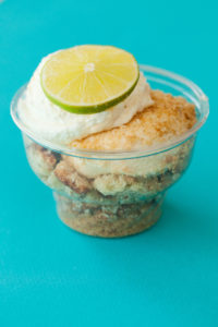 *Key Lime Trifle $4.00: Layers of Graham Crackers, our homemade cheesecake and key lime curd topped with whipped cream.